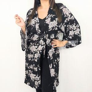 SPIRITUAL GANGSTER Black White Kimono Cardigan